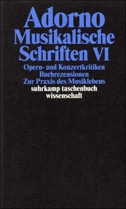 Abbildung von Adorno   Gesammelte Schriften in 20 Bänden   2003   Band 19: Musikalische Schrifte...   1719