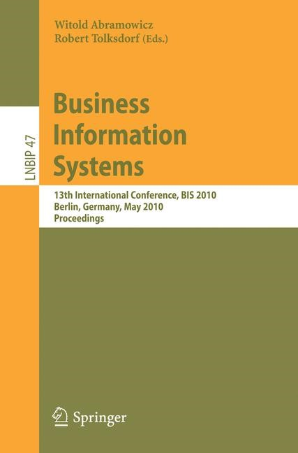Business Information Systems | Abramowicz / Tolksdorf, 2010 | Buch (Cover)
