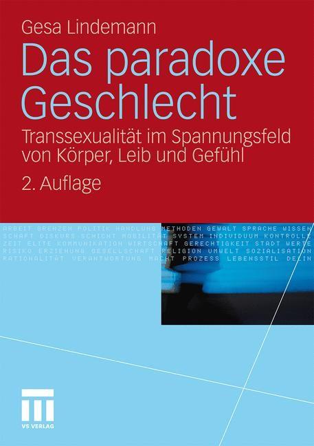Das paradoxe Geschlecht | Lindemann | 2., mit einem neuen Vorwort, 2011 | Buch (Cover)
