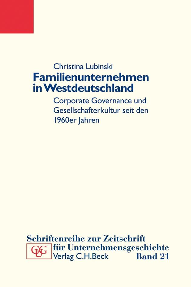 Familienunternehmen in Westdeutschland | Lubinski, Christina, 2010 | Buch (Cover)