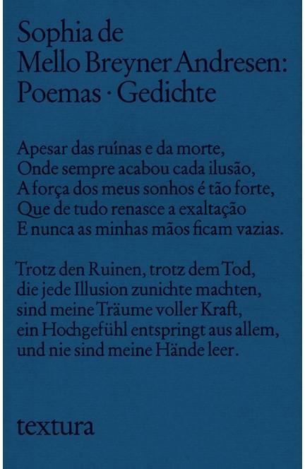 Cover: Sophia de Mello Breyner Andresen, Poemas - Gedichte