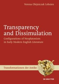 Transparency and Dissimulation | Olejniczak Lobsien, 2010 | Buch (Cover)