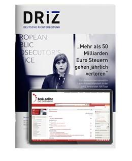 Abbildung von DRiZ • Deutsche Richterzeitung | 98. Jahrgang. | 2020