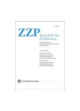 Abbildung von Zeitschrift für Zivilprozess • ZZP | 133. Jahrgang | 2020