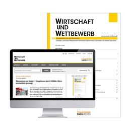 Abbildung von WuW - WIRTSCHAFT UND WETTBEWERB | 70. Jahrgang | 2020 | Zeitschrift für Kartellrecht, ...