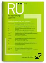 Abbildung von RechtsprechungsÜbersicht – RÜ | 49. Jahrgang | 2019
