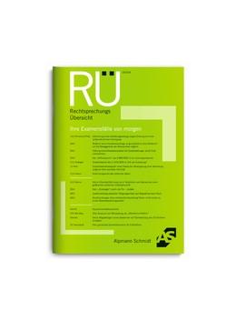 Abbildung von RechtsprechungsÜbersicht – RÜ | 48. Auflage | 2021 | beck-shop.de