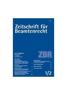 Abbildung von Zeitschrift für Beamtenrecht – ZBR | 68. Jahrgang | 2020