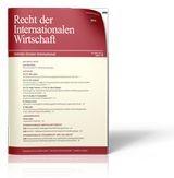 Recht der Internationalen Wirtschaft • RIW (Cover)