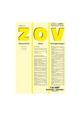 Abbildung von Zeitschrift für offene Vermögensfragen - ZOV | 20. Jahrgang | 2020