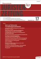 ÖJZ - Österreichische Juristen-Zeitung | 74. Jahrgang (Cover)