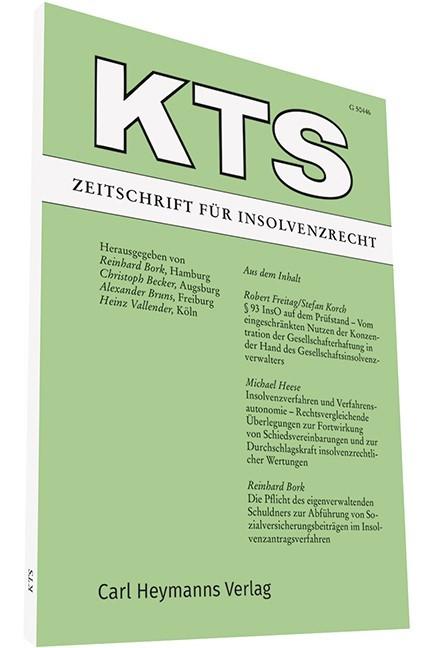 KTS • Zeitschrift für Insolvenzrecht | Bork / Becker / Bruns / Vallender (Hrsg.) | 80. Jahrgang (Cover)