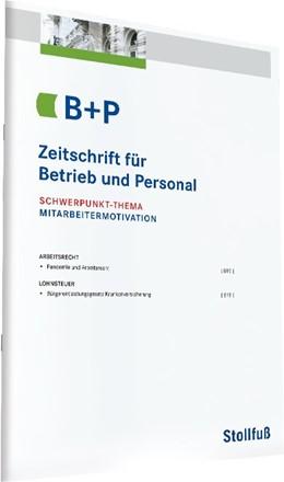 Abbildung von Zeitschrift für Betrieb und Personal - B+P | 50. Jahrgang | 2020 | Die Zeitschrift für das Lohn- ...