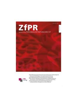 Abbildung von Zeitschrift für Personalvertretungsrecht • ZfPR | 2020