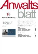 Anwaltsblatt | 68. Jahrgang (Cover)