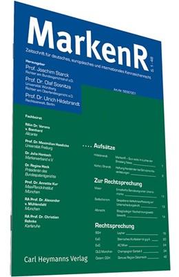 Abbildung von Starck / Sosnitza (Hrsg.)    MarkenR - Markenrecht   22. Jahrgang   2020   Zeitschrift für deutsches, eur...