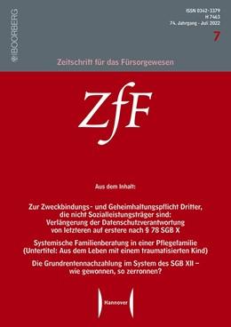 Abbildung von Zeitschrift für das Fürsorgewesen – ZfF | 70. Auflage | 2021 | beck-shop.de