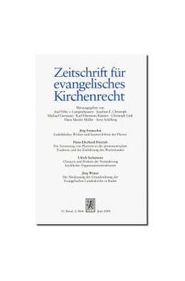 Abbildung von Zeitschrift für evangelisches Kirchenrecht - ZevKR   65. Band   2020
