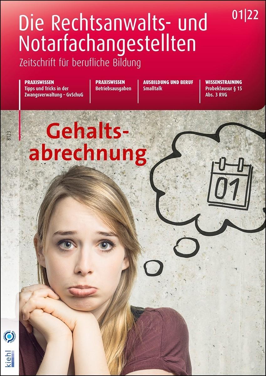 Die Rechtsanwalts- und Notarfachangestellten (Cover)