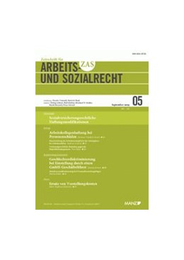 Abbildung von ZAS - Zeitschrift für Arbeitsrecht und Sozialrecht   55. Jahrgang   2020