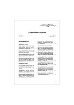 Abbildung von Sächsisches Amtsblatt mit Amtlicher Anzeiger und Sonderdrucken | 1. Auflage | 2020 | beck-shop.de
