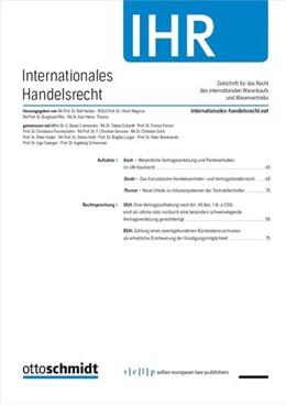 Abbildung von Internationales Handelsrecht – IHR | 18. Auflage | 2021 | beck-shop.de