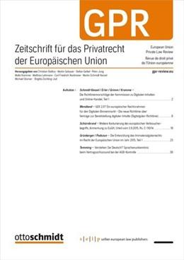 Abbildung von Zeitschrift für das Privatrecht der Europäischen Union • GPR | 15. Auflage | 2021 | beck-shop.de