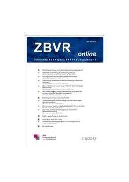 Abbildung von ZBVR Online | 15. Jahrgang | 2019 | Zeitschrift für Betriebsverfas...