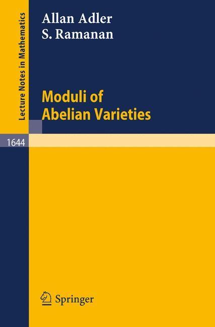 Abbildung von Adler / Ramanan | Moduli of Abelian Varieties | 1996