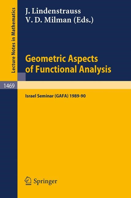 Geometric Aspects of Functional Analysis | Lindenstrauss / Milman, 1991 | Buch (Cover)