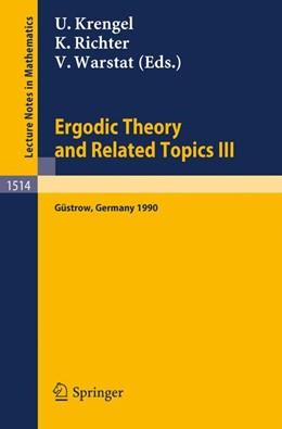 Abbildung von Krengel / Richter / Warstat | Ergodic Theory and Related Topics III | 1992 | Proceedings of the Internation... | 1514