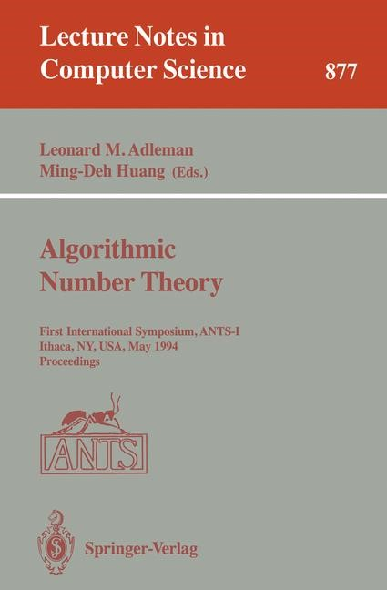 Algorithmic Number Theory | Adleman / Huang, 1994 | Buch (Cover)