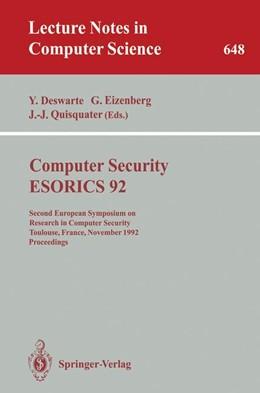Abbildung von Deswarte / Eizenberg / Quisquater | Computer Security - ESORICS 92 | 1992 | Second European Symposium on R... | 648