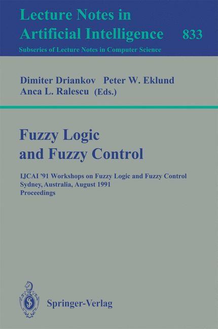 Fuzzy Logic and Fuzzy Control | Driankov / Eklund / Ralescu, 1994 | Buch (Cover)