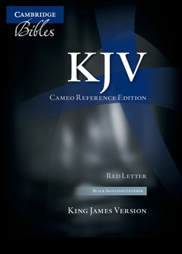 Abbildung von KJV Cameo Reference Edition KJ452:XR Black Imitation Leather | 2010