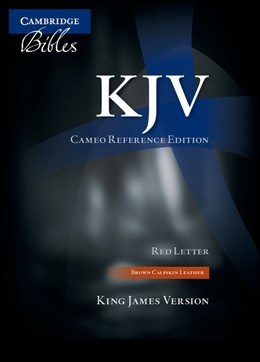 Abbildung von KJV Cameo Reference Bible, Brown Calfskin Leather, Red-letter Text, KJ455:XR Brown Calfskin Leather | 2010
