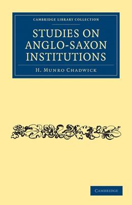 Abbildung von Chadwick | Studies on Anglo-Saxon Institutions | 2010