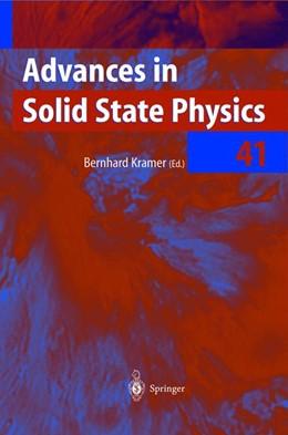Abbildung von Kramer | Advances in Solid State Physics | 2001