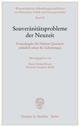 Abbildung von Kraus / Wolff | Souveränitätsprobleme der Neuzeit | 2010 | Freundesgabe für Helmut Quarit... | 58