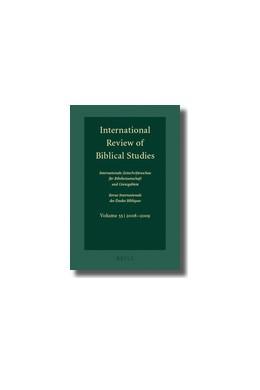 Abbildung von Lang | International Review of Biblical Studies, Volume 55 (2008-2009) | 2010 | 55