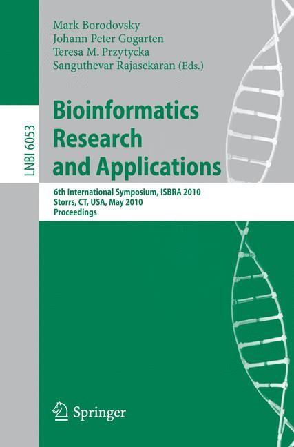Bioinformatics Research and Applications | Borodovsky / Gogarten / Przytycka / Rajasekaran, 2010 | Buch (Cover)