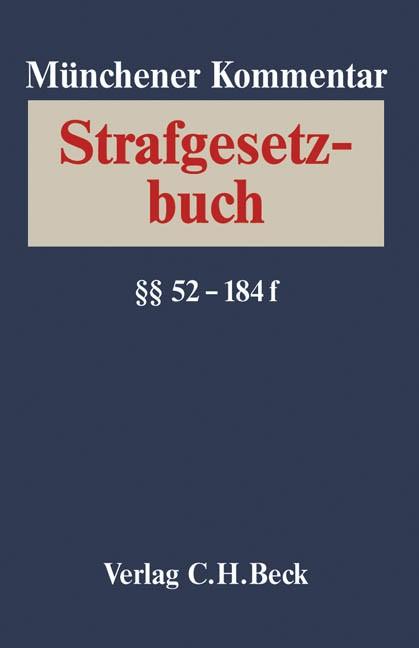 Abbildung von Münchener Kommentar zum Strafgesetzbuch,  Band 2/1: §§ 52-79b StGB | 2005