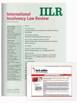 IILR • International Insolvency Law Review | 7. Jahrgang (Cover)