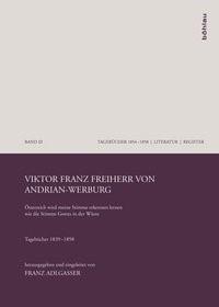 Viktor Franz Freiherr von Andrian-Werburg | Adlgasser, 2011 | Buch (Cover)