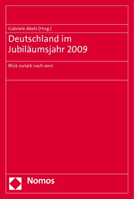 Deutschland im Jubiläumsjahr 2009 | Abels, 2010 | Buch (Cover)