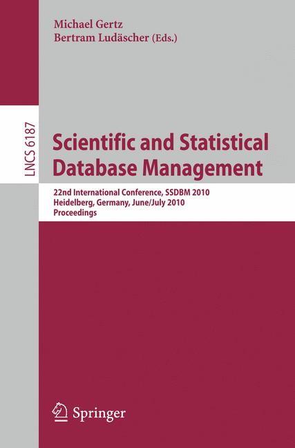 Abbildung von Gertz / Ludäscher | Scientific and Statistical Database Management | 2010