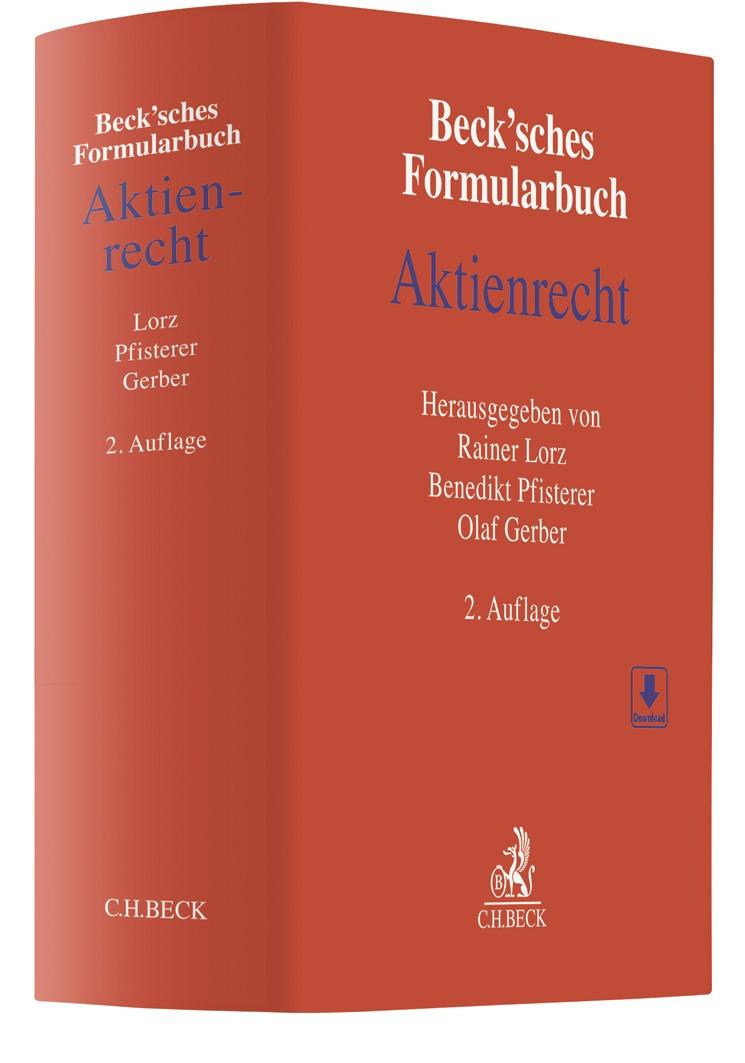 Beck'sches Formularbuch Aktienrecht | 2. Auflage, 2019 | Buch (Cover)
