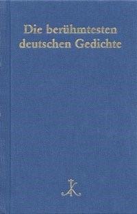 Die berühmtesten deutschen Gedichte | Braam / Schanze, 2004 | Buch (Cover)