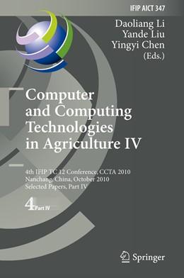 Abbildung von Li / Liu / Chen | Computer and Computing Technologies in Agriculture IV | 2011 | 4th IFIP TC 12 International C... | 347