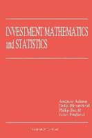 Abbildung von Adams / Booth / Bloomfield | Investment Mathematics and Statistics | 1993